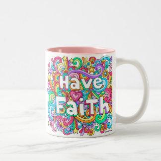 HAVE FAITH Psychedelic Groovy Doodles Mug ♥