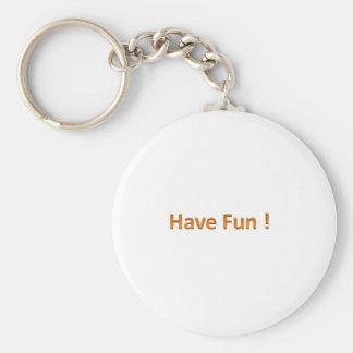 Have Fun Basic Round Button Key Ring