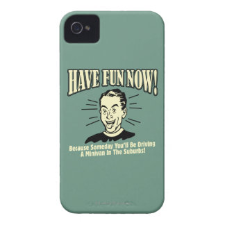 Have Fun Now: Driving Minivan Suburbs iPhone 4 Cases
