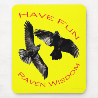 Have Fun Raven Wisdom Mouse Pads