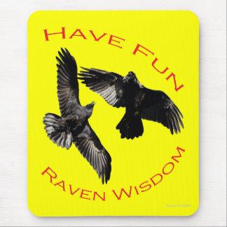Have Fun...Raven Wisdom Mouse Pad