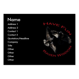 Have Fun...Raven Wisdom Pack Of Chubby Business Cards