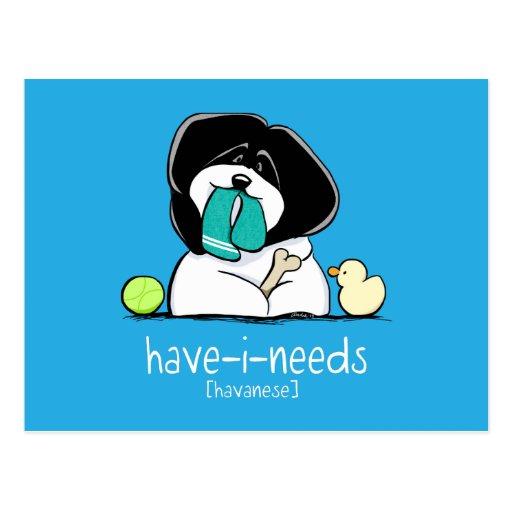 Have-i-Needs Havanese Bold Off-Leash Art™ Post Cards