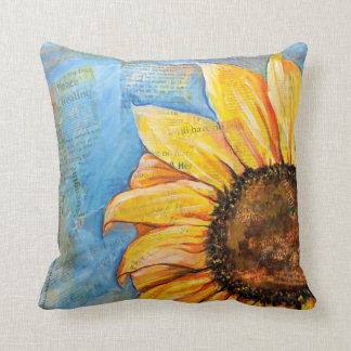 Have No Fear Sunflower Large Pillow