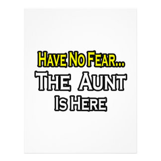 Have No Fear...The Aunt Is Here Flyer Design