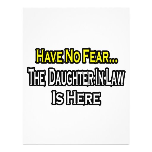 Have No Fear...The Daughter-In-Law Is Here Flyers