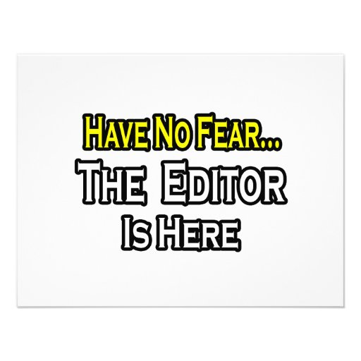 Have No Fear, The Editor Is Here Personalized Invites