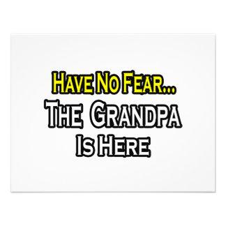 Have No Fear The Grandpa Is Here Invitations