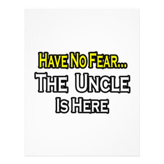 Have No Fear...The Uncle Is Here Personalized Flyer