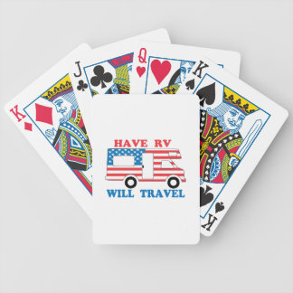 Have RV Will Travel America Bicycle Playing Cards