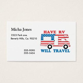 Have RV Will Travel America Business Card