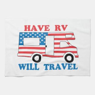 Have RV Will Travel America Tea Towel