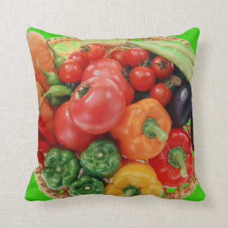 HAVE SOME - GREAT PEPPERS FRESH VEGETABLES THROW PILLOW