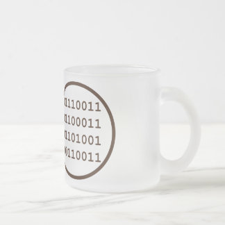have written a program that operates in real time frosted glass mug