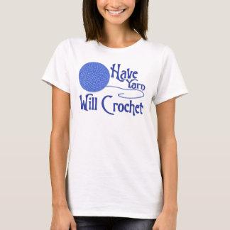 Have Yarn, Will Crochet - Blue T-Shirt