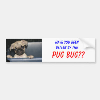 Have you beenbitten by the, PUG BUG?? Bumper Sticker