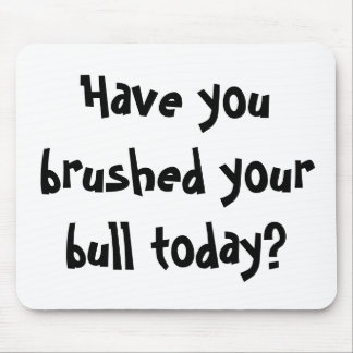 Have you brushed your bull today? mouse mat