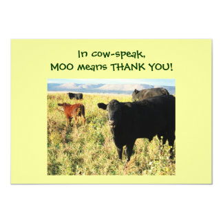 Have You Herd? Calves - Western Thanks Baby Gift Card