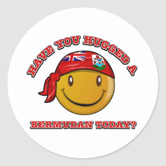 Have you hugged a Bermudan today? Round Sticker