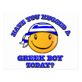 Have you hugged a Greek boy today? Postcard
