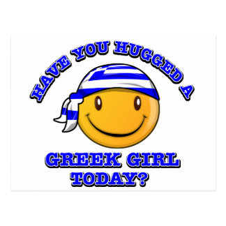 Have you hugged a Greek girl today? Postcard