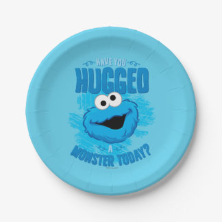Have You Hugged a Monster Today Paper Plate