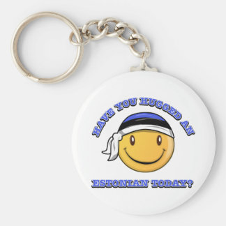 Have you hugged an Estonian today? Basic Round Button Key Ring