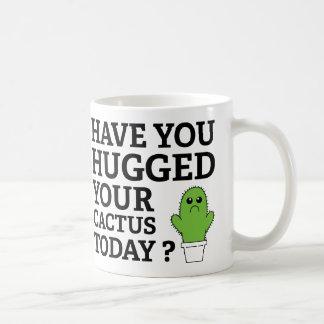 Have You Hugged Your Cactus Today? Basic White Mug
