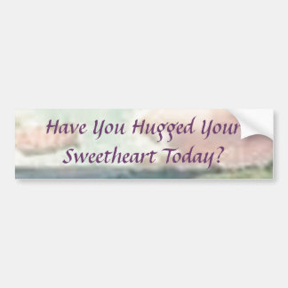 Have You Hugged Your Sweetheart Today? Bumper Sticker