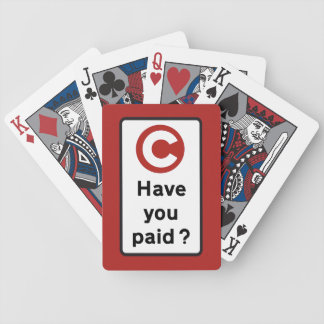 Have You Paid?, Road Sign, UK Deck Of Cards