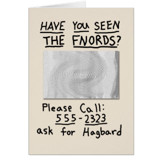 Have You Seen The FNORDS? Note Card