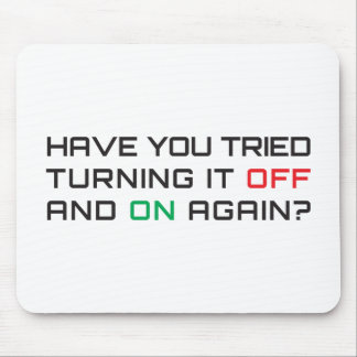 Have you tried turning it off and on again? mouse pad
