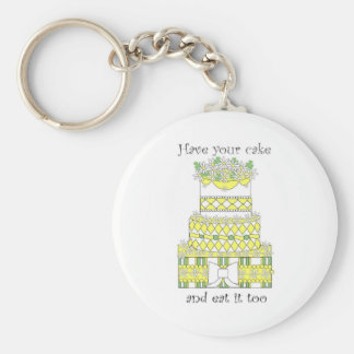 Have Your Cake Basic Round Button Key Ring