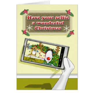 Have your selfie a wonderful Christmas Card