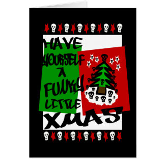 Have Yourself A Funky Little Xmas, Christmas Card