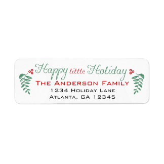 Have Yourself a Happy Little Holiday Return Address Label