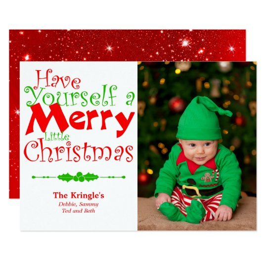 Have Yourself a Merry Christmas Holiday Photo Card