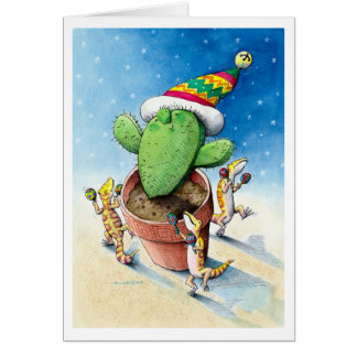 Have Yourself a Merry Little Cactus! Greeting Card