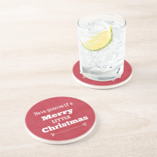 Have Yourself a Merry Little Christmas Beverage Coasters