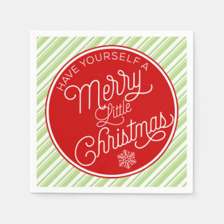 Have Yourself A Merry Little Christmas Disposable Napkin