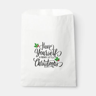 Have Yourself a Merry Little Christmas Favour Bags