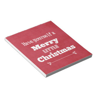 Have Yourself a Merry Little Christmas Memo Notepads