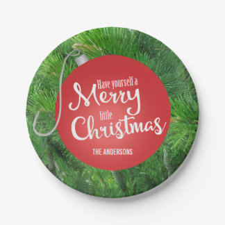 Have Yourself A Merry Little Christmas Personalize 7 Inch Paper Plate