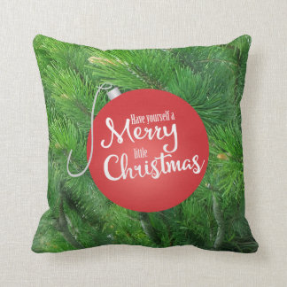 Have Yourself A Merry Little Christmas, Pine Throw Cushions