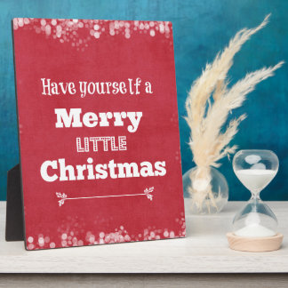 Have Yourself a Merry Little Christmas Photo Plaques