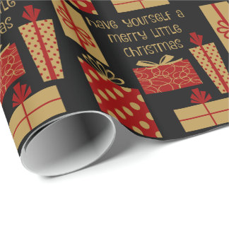 Have yourself a merry little Christmas, red & gold Wrapping Paper