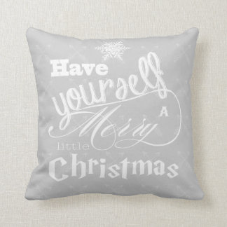 Have Yourself a Merry Little Christmas Reindeer Throw Cushion