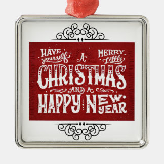 Have Yourself a Merry Little Christmas Silver-Colored Square Decoration