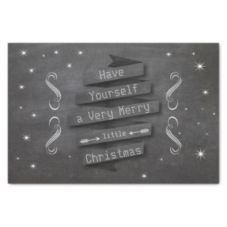 """Have Yourself a Merry Little Christmas Stars 10"""" X 15"""" Tissue Paper"""