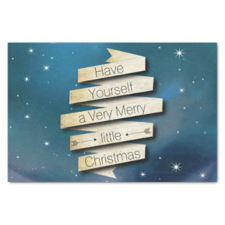 "Have Yourself a Merry Little Christmas Stars 10"" X 15"" Tissue Paper"